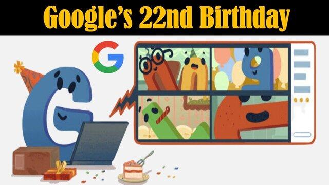 گوگل تولد ۲۲ سالگی خود را جشن گرفت|خبر فوری