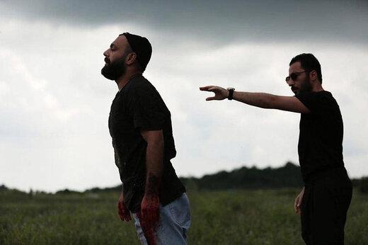 سلفی نوید محمدزاده و هومن سیدی پشتصحنه سریالی جدید