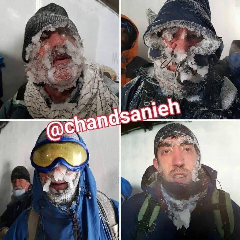 تصویری جالب از کوهنوردانی که از مرگ حتمی در دارآباد نجات یافتند/ عکس|خبر فوری