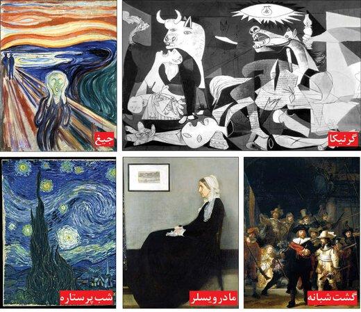 رازهای پشت پرده ۵ تابلوی نقاشی مشهور|خبر فوری