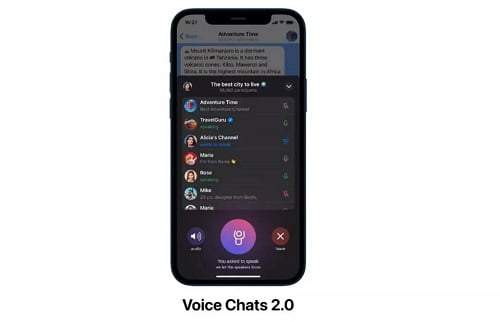 voice chat, انتشار آپدیت جدید تلگرام با قابلیت Voice chat, رسا نشر - خبر روز