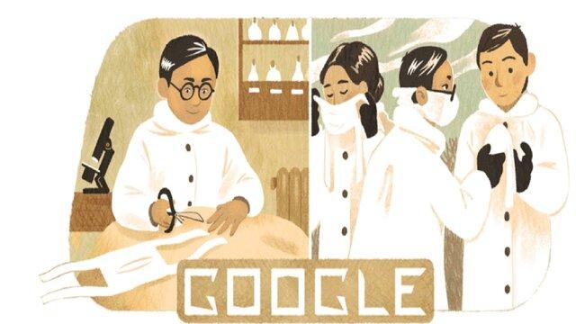 لوگوی گوگل, تغییر لوگوی گوگل به مناسبت زادروز مخترع ماسک جراحی, رسا نشر - خبر روز